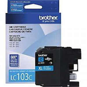 Brother LC103C Cyan OEM Inkjet Cartridge