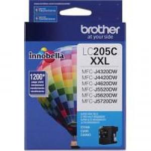 Brother LC205C Cyan OEM Inkjet Cartridge