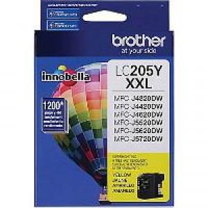 Brother LC205Y Yellow OEM Inkjet Cartridge