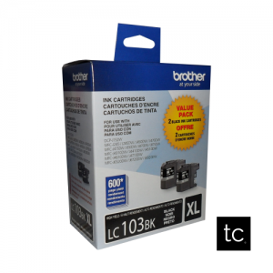 Brother LC1032PKS Black OEM Inkjet Cartridge Dual Pack