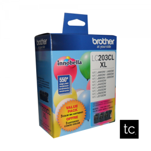 Brother LC2033PKS Cyan Magenta Yellow OEM Inkjet Cartridge Triple Pack