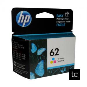HP 62 Tri-color Cyan Magenta Yellow OEM Inkjet Cartridge