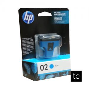 HP #02 Cyan OEM Inkjet Cartridge