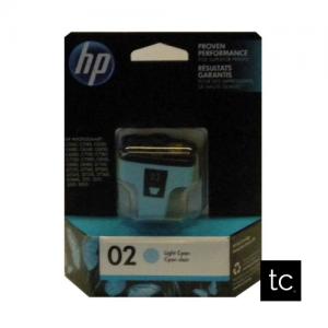 HP #02 Light Cyan OEM Inkjet Cartridge