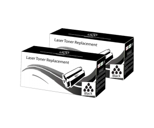 TN-660 compatible black high yield toner cartridge 2- pack for Brother printers