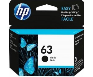 HP 63 original black inkjet cartridge