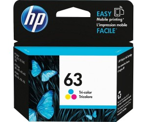 HP 63 original tri-color cyan magenta yellow inkjet cartridge