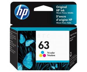 HP 63 original tri-color cyan magenta yellow inkjet cartridge