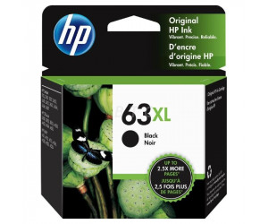 HP 63XL original black high yield inkjet cartridge