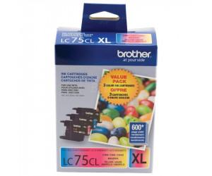 Brother LC753PKS original cyan magenta yellow high yield inkjet cartridge combo pk