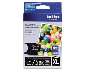 Brother LC75BK original black high yield inkjet cartridge