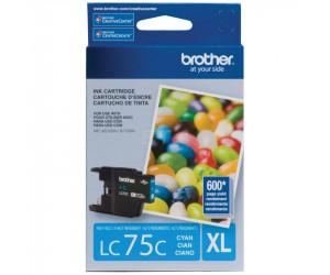 Brother LC75C original cyan high yield inkjet cartridge
