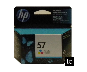 HP 57 original tri-color cyan magenta yellow inkjet cartridge