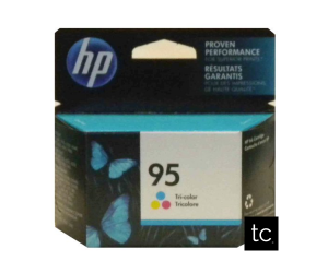 HP 95 original tri-color cyan magenta yellow inkjet cartridge