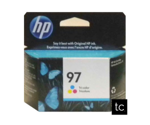 HP 97 original tri-color cyan magenta yellow inkjet cartridge