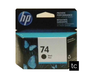 HP 74 original black inkjet cartridge