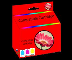 75 compatible tri-color cyan magenta yellow inkjet cartridge  for HP printers