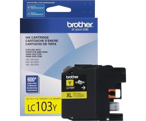Brother LC103Y original yellow high yield inkjet cartridge