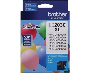 Brother LC203C original cyan high yield inkjet cartridge