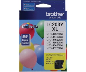 Brother LC203Y original yellow high yield inkjet cartridge