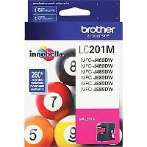 Brother LC201M Magenta OEM Inkjet Cartridge