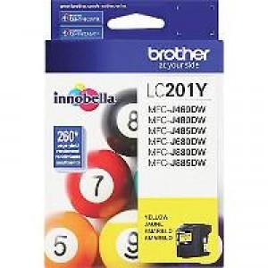 Brother LC201Y Yellow OEM Inkjet Cartridge
