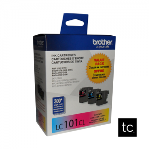 Brother LC1013PKS Cyan Magenta Yellow OEM Inkjet Cartridge Triple Pack