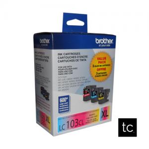 Brother LC1033PKS Tri-color Cyan Magenta Yellow OEM Inkjet Cartridge