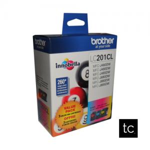 Brother LC2013PKS Cyan Magenta Yellow OEM Inkjet Cartridge Triple Pack