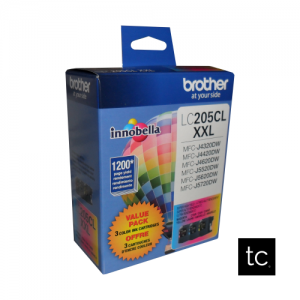 Brother LC2053PKS Cyan Magenta Yellow OEM Inkjet Cartridge Triple Pack