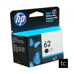 HP 62 Black OEM Inkjet Cartridge