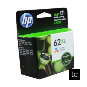 HP 62XL Tri-color Cyan Magenta Yellow OEM Inkjet Cartridge