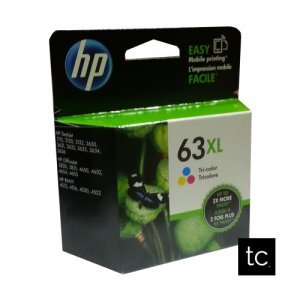 HP 63XL Tri-color Cyan Magenta Yellow OEM Inkjet Cartridge