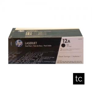 HP 12A Black OEM Toner Dual Pack