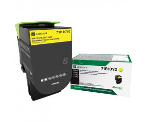 Lexmark CS/CX 317 · 417 · 517 original -return program- yellow toner cartridge