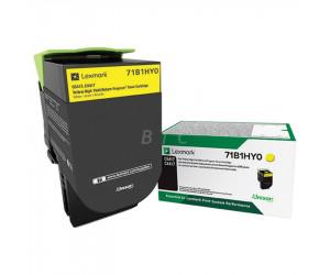 Lexmark CS/CX 417 · 517 original -return program- yellow high yield toner cartridge