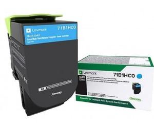 Lexmark 711HC original -return program- cyan high yield toner cartridge
