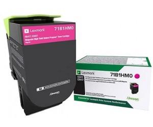 Lexmark 711HM original magenta high yield toner cartridge