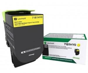 Lexmark 711HY original -return program- yellow high yield toner cartridge