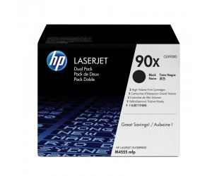 HP 90X original black high yield toner cartridge dual pack