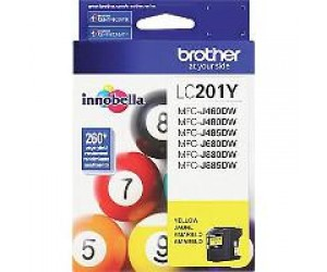 Brother LC201Y original yellow inkjet cartridge