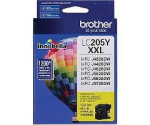 Brother LC205Y original yellow super high yield inkjet cartridge