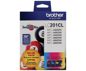 Brother LC2033PKS original cyan magenta yellow high yield inkjet cartridge triple pack