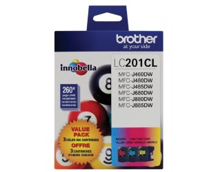 Brother LC2013PKS original cyan magenta yellow inkjet cartridge triple pack