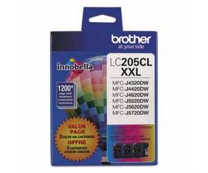 Brother LC2053PKS original cyan magenta yellow super high yield inkjet cartridge triple pack